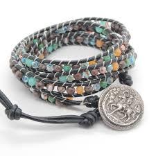 beaded wrap bracelet images Horse and rider beaded wrap bracelet skullery JPG