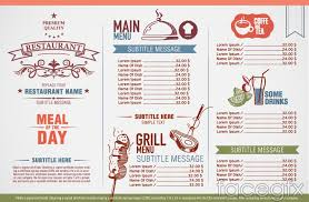 vintage elegant restaurant menu design vector u2013 over millions