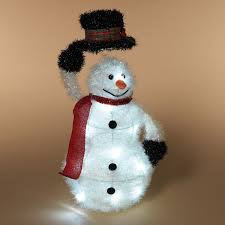 gerson lighted outdoor tinsel snowman with scarf richards expo