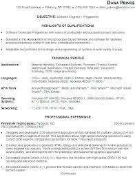 Software Developer Resume Template by C Developer Resume Template Embedded Developer Cover Letter