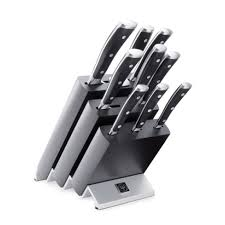 wusthof 10 piece classic ikon knife block set 9873 williams