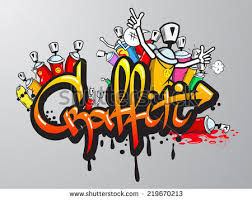 graffiti wall background stock vector 125744732
