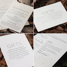 wedding gift list wording gift card wording and design ideas some inspiration