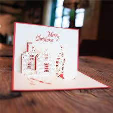 wholesale greeting cards aliexpress buy christmas castle 3d laser cut pop up