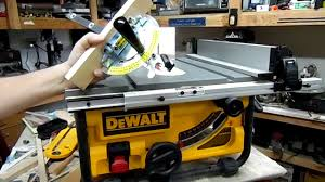 dewalt table saw review dewalt dwe7480 table saw fine tuned review great hobby saw youtube