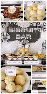 the best brunch station a biscuit bar with all the fixins