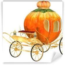 Pumpkin Carriage Cinderella Fairy Tale Pumpkin Carriage Isolated Wall Mural