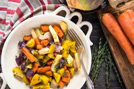 Root Vegetables Roasted - healthy recipe roasted root vegetables with herbs