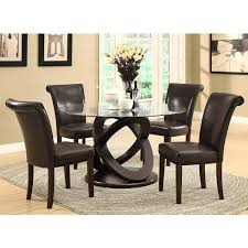 espresso dining room set espresso 48 inch tempered glass dining table free shipping