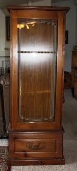 gun cabinet for sale copper gazette glass front gun cabinet for sale