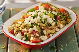 courgette cuisine barbecued courgette and couscous salad with feta tesco food