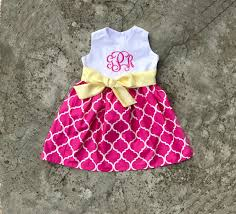 baby easter dress toddler clothes pink and yellow