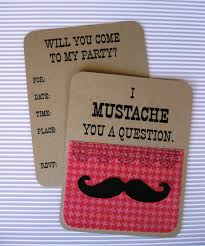 u0027s mustache party invitation set of 8