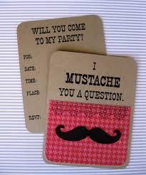 mustache invitations u0027s mustache party invitation set of 8