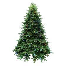 santa s best 7 5 ft indoor pre lit led splendor spruce artificial