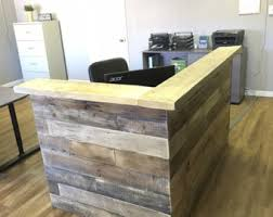 Wood Reception Desk by Retail Counter Etsy