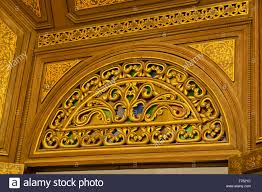 beautiful ornamental decoration typical of moroccan architecture