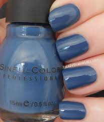 sinful colors nail polish rainstorm a dusty blue creme with grey