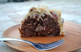 german chocolate bundt cake with coconut pecan frosting the