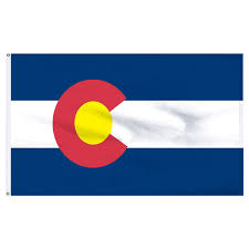 colorado 3x5ft nylon flag with pole hem only banner