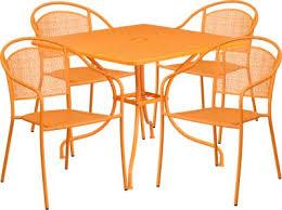 sunrise garden orange 5 pc 35 5 in square patio set dining