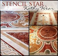 Faux Painted Floors - faux marble floor by artist kathy wear using modello designs