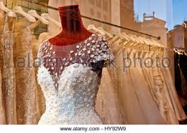 wedding white bridal gown dress on dummy mannequin on display in