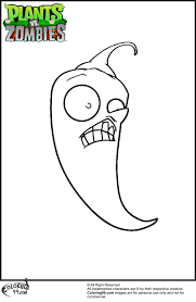 jalapeno plants vs zombies coloring pages jpg 800 1225 jonah
