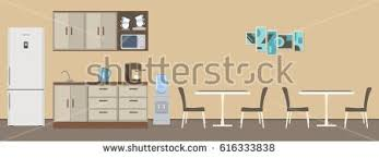 dining room office there tables chairs stock vector 616333838