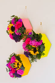Hanging Wall Decor by Diy Geometric Hexagon Flower Boxes For A Pop Of Colour On Your