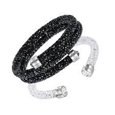 swarovski set bracelet images Swarovski luna glow black white crystal bracelet set john jpg