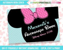 disney autograph book printable diy instant download disney