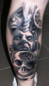 biomechanical tattoo face face tattoo by piotr deadi dedel face tattoos tattoo and tattoos