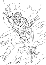 wolverine coloring sheet coloring pages kids wolverine men