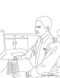 policeman police station coloring pages hellokids