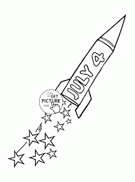 rocket july 4 independence day coloring page for kids coloring