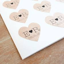 wedding favor labels kraft heart sticker wedding favor save the date stick em up