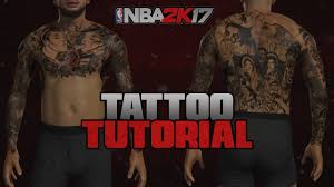 nba 2k17 best tattoo tutorial for your myplayer new youtube