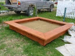 Backyard Sandbox Ideas Rectangular Backyard Sandbox Design Ideas Backyard Sandbox Ideas