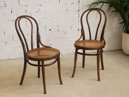 mobilier de bistrot chaises thonet ancienne authentique originale bois cannage