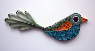 quilled bird oiseau quilling pájaro rodó papel youtube