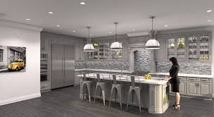 Grey Kitchen Cabinets by White Countertop Island White Bar Stools Gray Kitchen Cabinet