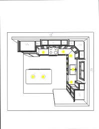 how to design lighting layout for the kitchen