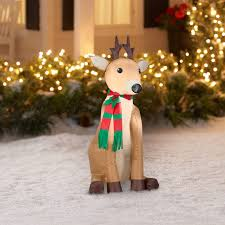 Lighted Deer Lawn Ornaments by Gemmy Lighted Deer Outdoor Christmas Decoration Gemmy Lighted