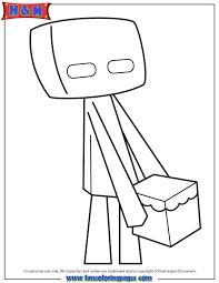cute cartoon enderman coloring u0026 coloring pages