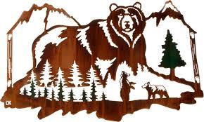 wall art ideas bears sample metal wildlife wall art wilderness
