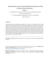 Universities As Multinational Enterprises The Multinational Diversity In Multinational Corporations