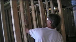 setting framed interior basement walls like a pro youtube