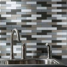 Peel And Stick Glass Mosaic Tile Backsplash JC Designs Peel And - Glass peel and stick backsplash