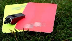 gimana cara membuat kartu kuning kini wasit sepak bola punya kartu ketiga selain kartu kuning dan